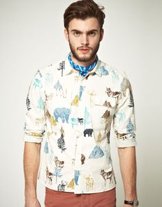 Cool print for a mens shirt...