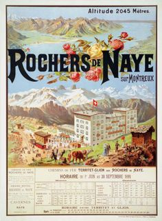 Rochers de Naye sur Montreux 1899