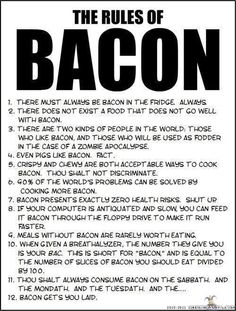 cant even count how much bacon ive eaten this year