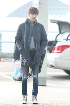 Lee Min Ho @  Incheon airport 140220 Lead actor korean drama