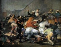 The Second of May, 1808: The Charge of the Mamelukes - Francisco Goya.  1814.  Oil on canvas.  266 x 345 cm.  Museo del Prado, Madrid, Spain.