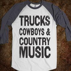 Trucks Cowboys Country Music (Baseball) - Shake it for Luke Bryan - Skreened T-shirts, Organic Shirts, Hoodies, Kids Tees, Baby One-Pieces and Tote Bags Custom T-Shirts, Organic Shirts, Hoodies, Novelty Gifts, Kids Apparel, Baby One-Pieces | Skreened - Ethical Custom Apparel