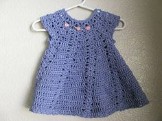 My latest project: My first crocheted baby dress finished!