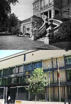 Palacio del duque de Santa Elena, en la esquina de Castellana con Zurbarán. Actualmente en el solar se levanta la embajada de Alemania Solar, Classy, Mansions, Architecture, House Styles, Duke, Germany, Palaces, Buildings