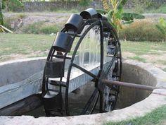 Water Wheel  Ancient Persian water wheel well
