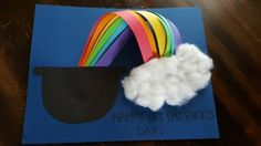 Patricks Day crafts for kids or toddlers Happy St Patricks Day, Crafts For Kids, Rainbow, Crafts For Children, Rain Bow, Rainbows, Kids Arts And Crafts, Kid Crafts, Craft Kids