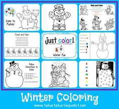 Just Color ~ Winter Fun - 1+1+1=1