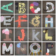 ABC Crafts for preschool. 1st part of alphabet.