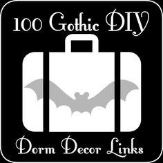 The Everyday Goth: 100 Goth Dorm Decor DIY Links