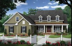 Farmhouse You'll Love Calling Home (HWBDO76592) | Farmhouse House Plan from BuilderHousePlans.com