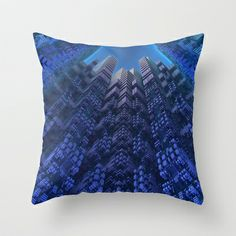 Skyscrapers Throw Pillow by Lyle Hatch - $20.00