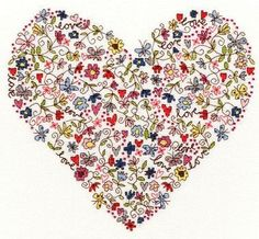Cross-stitch - Love Heart - by Bothy Threads