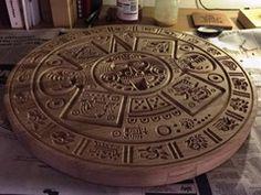 CNC Project:Cool Mayan Calendar cut using VCarve Pro #mayans #mayancalendar #vcarve #vectric #cnc
