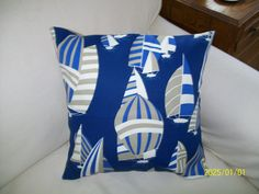 Regatta by hmishke on Etsy, Nautical Pillow Covers, Nautical Pillows, Diaper Bag, Throw Pillows, Trending Outfits, Handmade Gifts, Bags, Vintage, Etsy