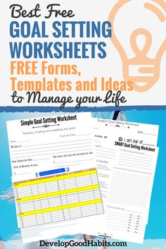 Best FREE Goal Setting Worksheets – FREE Forms, Templates and Ideas to Manage your Life #goals #goalsetting #worksheets #productivity #smartgoals #productivitytips #goal #goaltemplates #lifelessons #free #downloadables