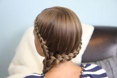 Double Lace Braid into Side Braid | Rihanna Hairstyles