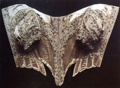 Bodice, ca 1660-69: http://collections.vam.ac.uk/item/O137794/bodice-unknown/
