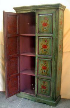 Resultado de imagen para plateras de madera antiguas - Armarios pintados a mano ...