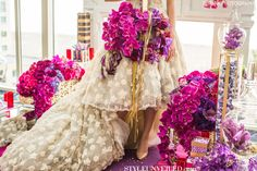 Radiant Orchid Bouquet / Shawna Yamamoto Design / D. Park Photography #radiantorchid