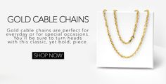 Pricerock's New Gold Cable Chain Gold Chains For Men, 14k Gold Chain, Gifts For Him, Cable, Gold Necklace, Yellow, Link, Cabo, Mens Gold Chains