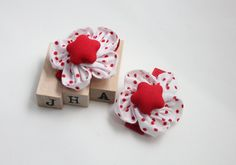 Baby girls/children/girls hair clip - fabric flower clips by JigulinsHA on Etsy