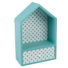Shelf / Drawer . Green / Blue