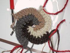 beginning of a crochet spiral