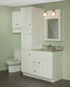 Linen Cabinet White - Cabinet over toilet