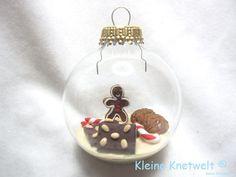 Lebkuchen Weihnachtskugel von Kleine Knetwelt auf DaWanda.com