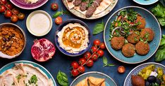 Middle Eastern Arabic Dishes Assorted Meze Stock Photo (Edit Now) 563091901 Lebanese Recipes, Lebanese Cuisine, Turkish Recipes, Dinner Dishes, Food Dishes, Jordanian Food, Cypriot Food, Middle Eastern Recipes, Mediterranean Recipes