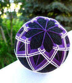 decorative ball home decor - hand embroidered - japanese temari  thread ball - velvet. via Etsy.