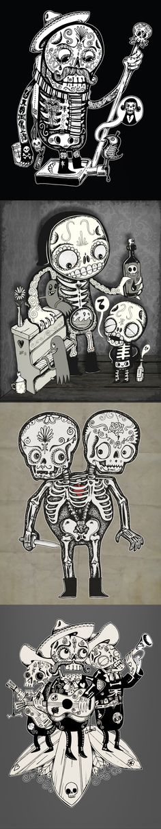 Day of the Dead Men by wotto on Behance