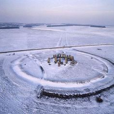 Aerial view in the snow