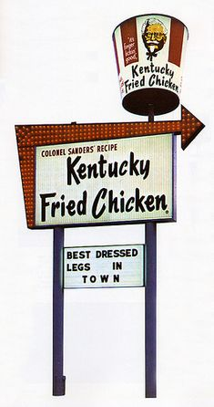 When KFC was still Kentucky Fried Chicken.