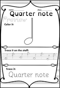 Music Trace and Color sheets Music Activities For Kids, Music Lessons For Kids, Music For Kids, Music Writing, Kids Writing, Basic Music Notes, Music Games, 2nd Grade Music, Music Theory Worksheets