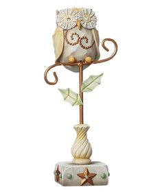 Look what I found on #zulily! River's End Owl On Branch Figurine #zulilyfinds