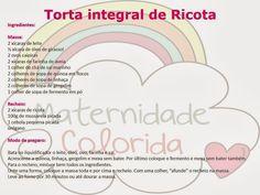 Torta Integral de Quinua com Ricota - Maternidade Colorida