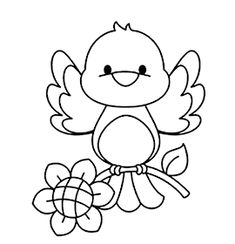 Bird Coloring Pages, Coloring Sheets For Kids, Coloring Books, Embroidery Patterns, Hand Embroidery, Kitten Drawing, Teacup Crafts, Animal Templates, Alcohol Ink Crafts
