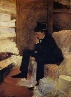 Jean-Louis Forain - Le Veuf (The Widower), 1885. Musée d'Orsay