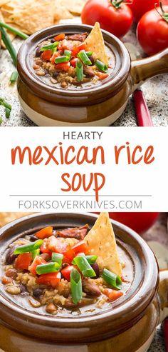 A delicious vegan Mexican rice soup recipe