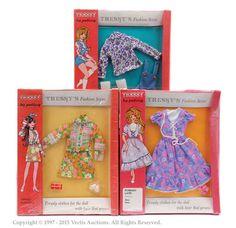 Palitoy Tressy Doll Boxed Outfits