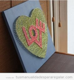 Mother's Day gift craft, heart shape hilorama