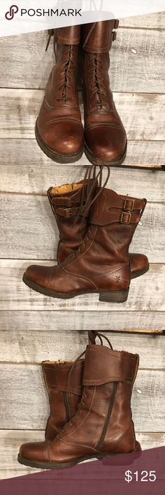 Frye Boots Frye Mid-Calf Boots Soft, vintage leather upper, Adjustable shaft circumference. Barely used. Whiskey color. Frye Shoes Ankle Boots & Booties