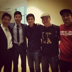 """Filming with Simon Rhee, a childhood hero of ours from """"Best of the Best."""""""