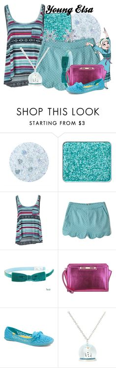 """""""Young Elsa"""" by amarie104 ❤ liked on Polyvore featuring Forever 21, shu uemura, Billabong, Disney, Nine West and Keds"""