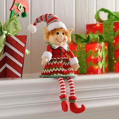 Jolly Elf Girl Shelf Sitter | Kirklands