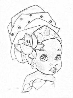 New Ideas For Womens Model Sheet Cute Coloring Pages, Coloring Pages For Girls, Coloring Books, African Drawings, African Art Paintings, Black Girl Art, Black Women Art, Black Art, Afrique Art