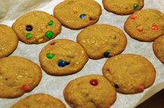 Chocolate Coconut Cookies w/ M&Ms | Garlic, My Soul