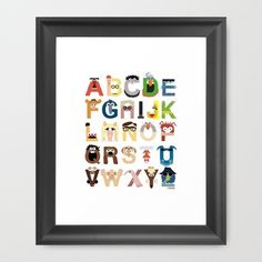 muppet alphabet art print $35 - @Morgan Johnston, thought you would like this. ;)