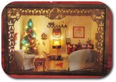1/144 Scale Miniature Christmas Dollhouse